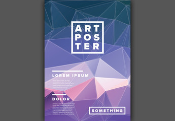Geometric Background Flyer Layout
