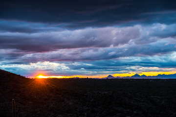 Dramatic Sunset in the Desert southwest