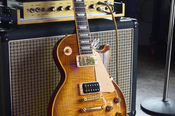 Vintage Iconic Electric Guitar and Half Stack