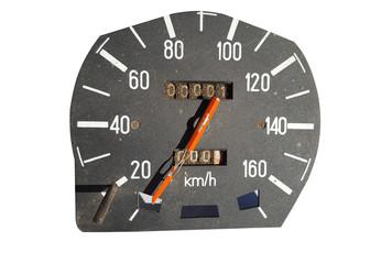 Speedometer on white