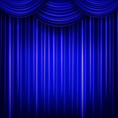 curtain or drapes blue background