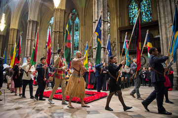 The Commonwealth Service at Westminster Abbey in London