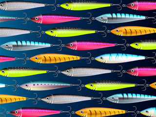 Fishing lures background hooks wallpaper 3