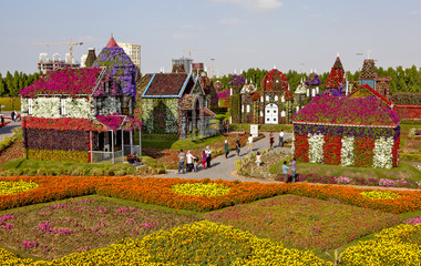 Park of flowers in Dubai (Dubai Miracle Garden). United Arab Emirates