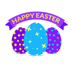 Easter congratulation card in bright vivid colors