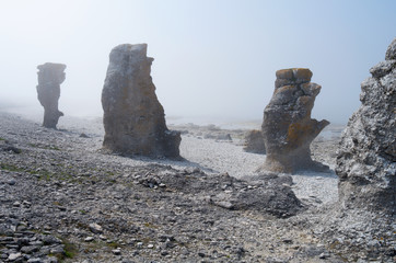 Milky rocks
