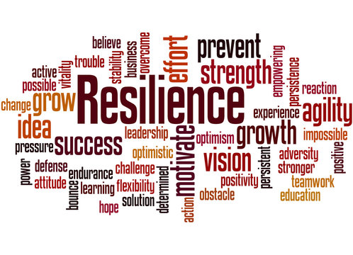 Resilience word cloud concept 3