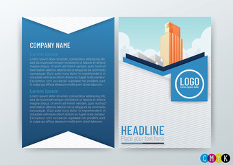 Abstract modern Background Creative Design, Business Brochure Template, Flyer Layout, Annual Report, booklet, in A4 size-Vector Illustration