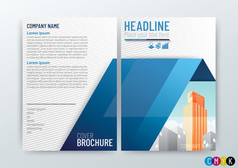 Abstract modern Background Creative Design, Business Brochure, Template, Flyer Layout, Annual Report, booklet in A4 size-Vector Illustration
