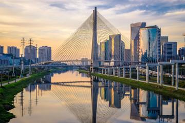 Sao Paulo Skyline Sunset - Brazil Wall mural