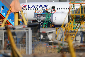 LATAM Airlines plane is seen at Santiago International Airport