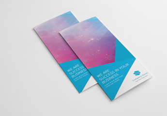 Trifold Brochure Layout with Blue Accents 1
