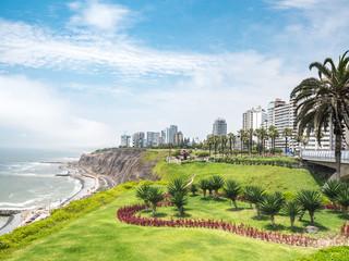 View of la Costa Verde coast in Lima