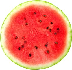 Cross Section of Watermelon - Isolated