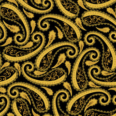 Abstract vintage pattern with decorative floral and Paisley pattern in Oriental style.
