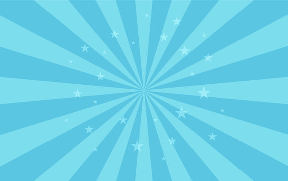 Swirling radial pattern stars background. Vortex starburst spiral twirl square. Helix rotation rays. Fun sun light beams. Vector illustration.