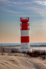Helgoland Lighthouse in the morning sun