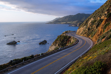 Tuinposter Kust Pacific Coast Highway