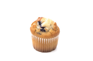 Classic Blueberry Muffins Isolated on a White Background