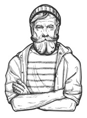 old sailor portrait