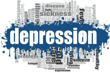 Depression word cloud design