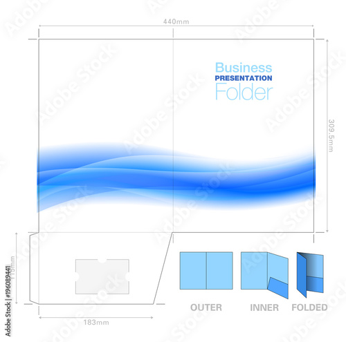 Presentation folder a4 template with flow background graphic presentation folder a4 template with flow background graphic cutter guide with standard business wajeb Image collections