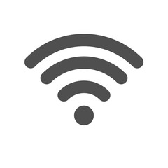 Design of WIFI icons on white background. Isolated vector illustrations.