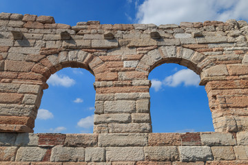 "Four isolated arcs called ""the wing"" at the Verona Arena are the last remaining pieces of the outmost circle in the roman amphitheatre"