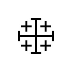Cross of the Crusaders icon. Elements of cross icon. Premium quality graphic design. Signs and symbol collection icon for websites, web design, mobile app, info graphics