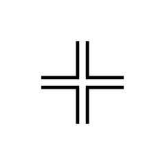 Gamma cross icon. Elements of cross icon. Premium quality graphic design. Signs and symbol collection icon for websites, web design, mobile app, info graphics