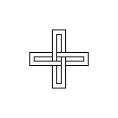 braided cross icon. Elements of cross icon. Premium quality graphic design. Signs and symbol collection icon for websites, web design, mobile app, info graphics