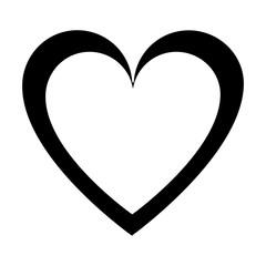 silhouette heart love symbol of passion design