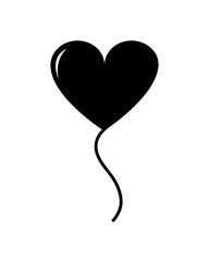 silhouette balloon heart design to love celebration