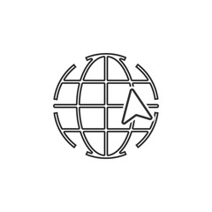 global cursor icon. Element of navigator signs for mobile concept and web apps. Thin line  icon for website design and development, app development. Premium icon