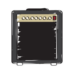 Isolated speaker icon