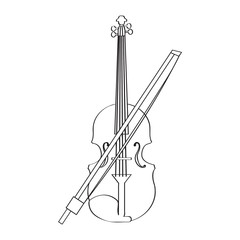 Isolated violin icon. Musical instrument