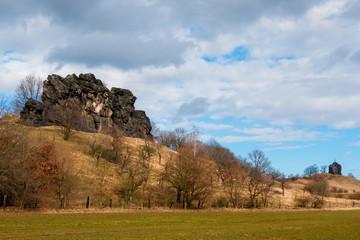 Teufelsmauer Gegensteine bei Ballenstedt im Harz Teufelsmauer-Stieg