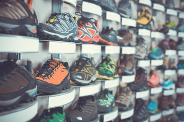 Photo of sport shoes selling in sports store