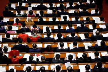 Delegates attend the fourth plenary session of the National People's Congress (NPC)