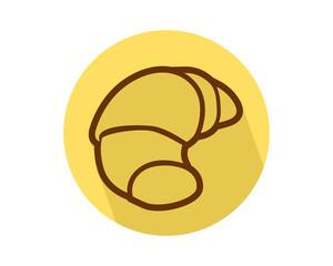 bread croissant culinary bread bakery image vector icon