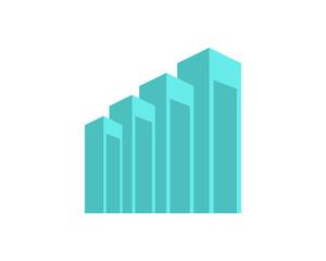 abstract building icon skyscraper cityscape architecture construction image vector