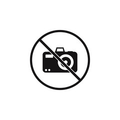 no sign allowed to take pictures icon. Element of danger signs icon. Premium quality graphic design icon. Signs and symbols collection icon for websites, web design, mobile app