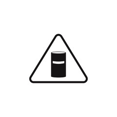 chemical waste sign icon. Element of danger signs icon. Premium quality graphic design icon. Signs and symbols collection icon for websites, web design, mobile app