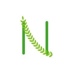 N Logo Vector Template Design