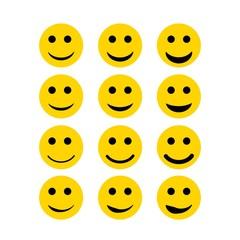 Smile Vector Set Template Design
