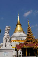 Beautiful Wat Phra Kaew Don Tao, Lampang,Thailand.