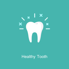 Vector outline tooth Icon.