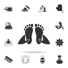 foot massage icon. Detailed set of SPA icons. Premium quality graphic design. One of the collection icons for websites, web design, mobile app