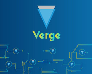 Blockchain verge circuit technology background collection