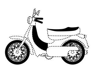 retro urban motorcycle classic icon vector illustration design
